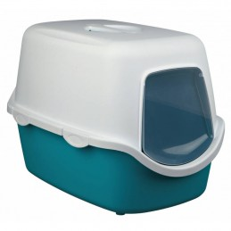 Trixie wc fechado Vico azul turquesa e creme sem filtro