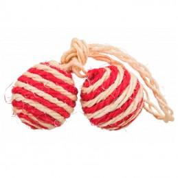 Trixie bola dupla em sisal recheada com catnip cores sortidas
