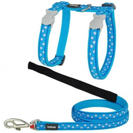 Red Dingo peitoral com trela style stars blue
