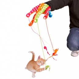 Trixie luva com ratos para brincar