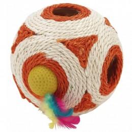 Kerbl bola em sisal com chocalho cores sortidas