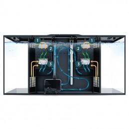 Aquario Fluval Flex preto com iluminação led 123lt