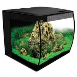 Aquario Fluval Flex preto com iluminação led 57lt + mesa