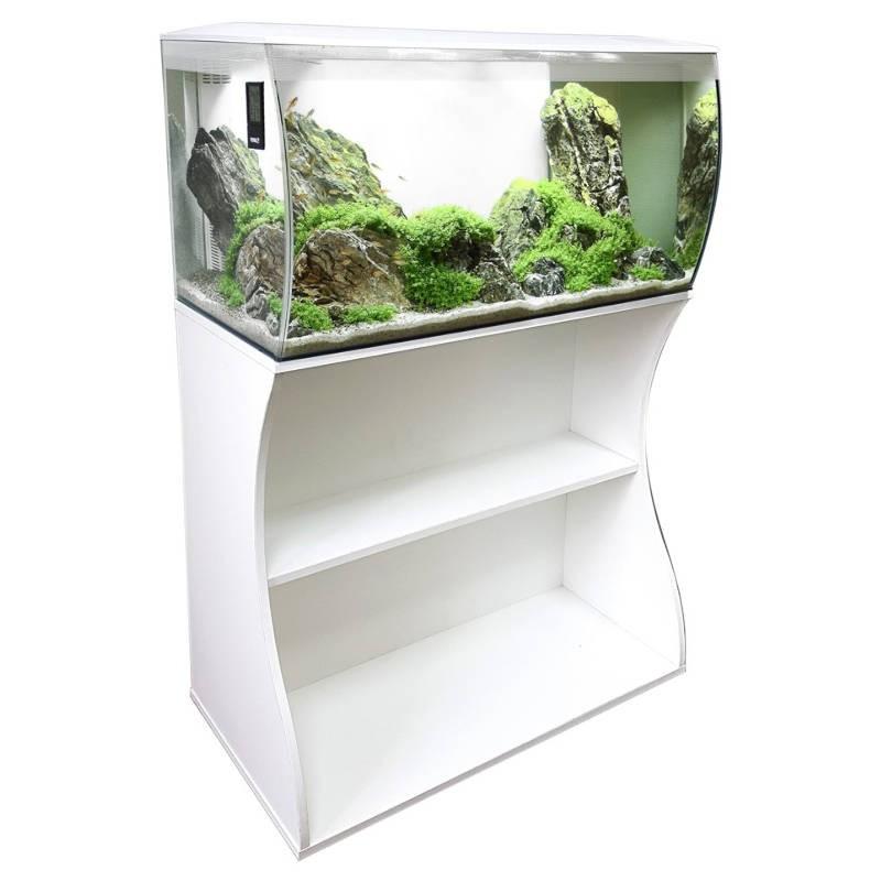 Aquario Fluval Flex branco com iluminação led 123lt + mesa