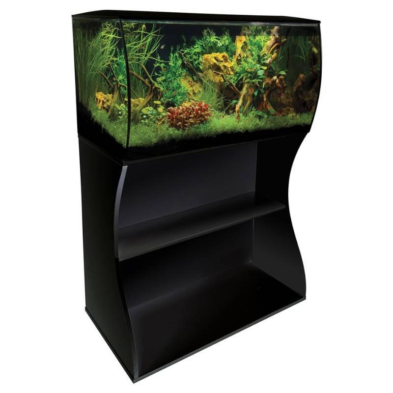 Aquario Fluval Flex preto com iluminação led 123lt + mesa