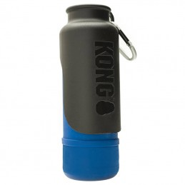 Kong H2O bebedouro inox revestido a borracha impermeável azul