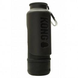 Kong H2O bebedouro inox revestido a borracha impermeável preto