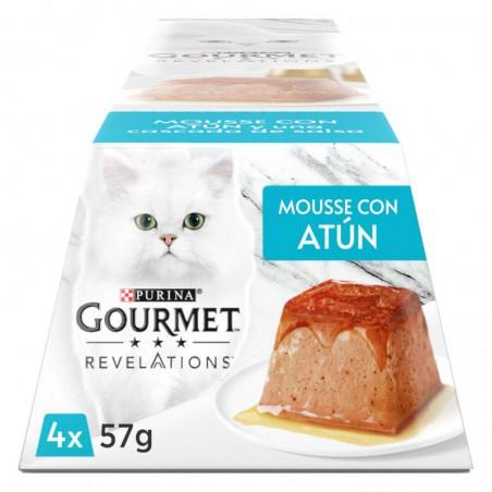 Gourmet Revelation Mousse Atum e uma cascata de molho Multipack 4x57gr
