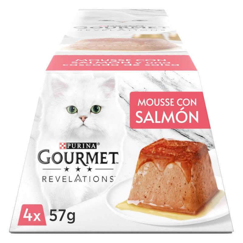 Gourmet Revelation Mousse Salmão e uma cascata de molho Multipack 4x57gr