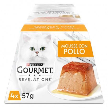 Gourmet Revelation Mousse Frango e uma cascata de molho Multipack 4x57gr