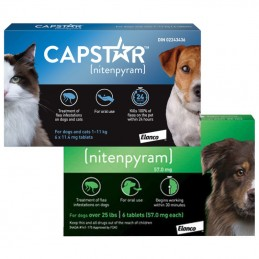 Capstar comprimidos Antiparasitários para cães e gatos