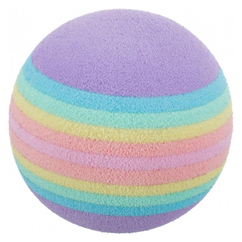 Trixie bolas arco-iris em esponja macia 4 unidades