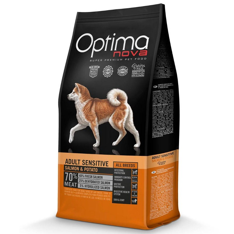 Optima Nova Dog Adult Sensitive Salmon & Potato