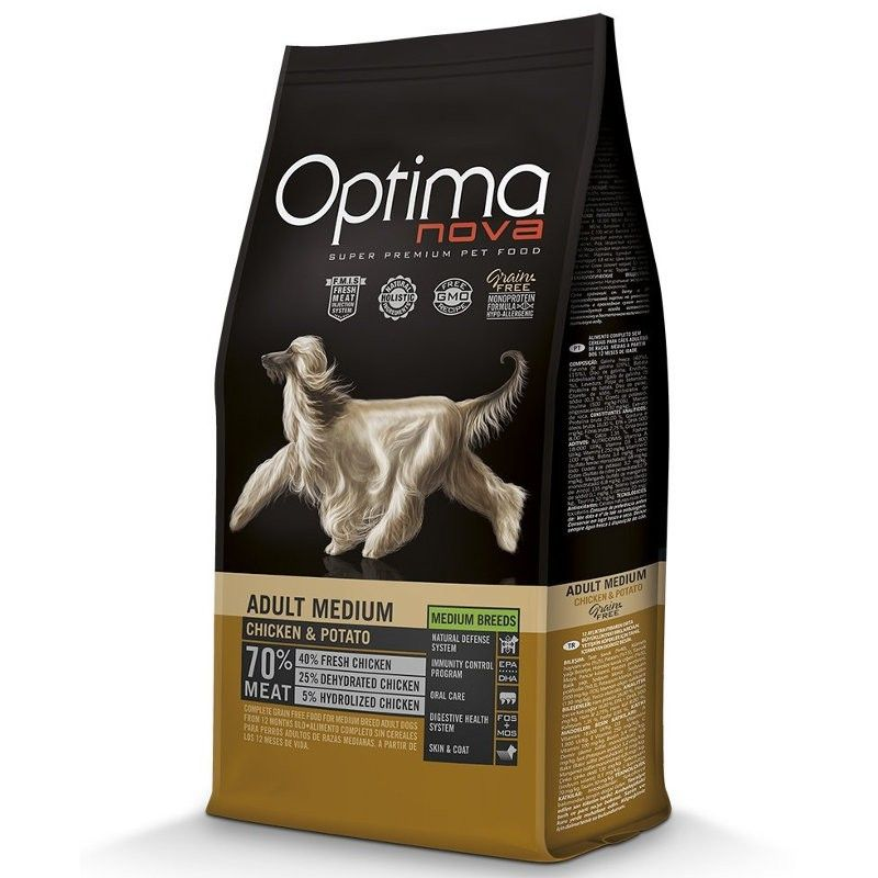 Optima Nova Dog Adult Medium Chicken & Potato