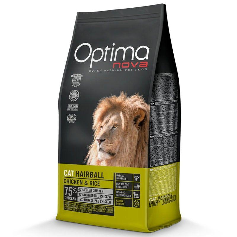 Optima Nova Cat Hairball Chicken & Rice