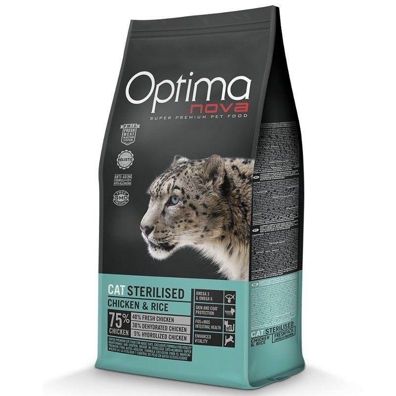 Optima Nova Cat Adult Sterilised Chicken & Rice