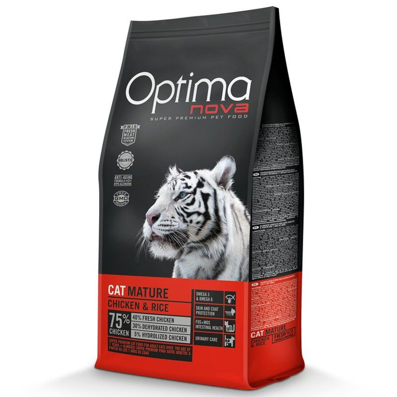 Optima Nova Cat Adult Mature Chicken & Rice