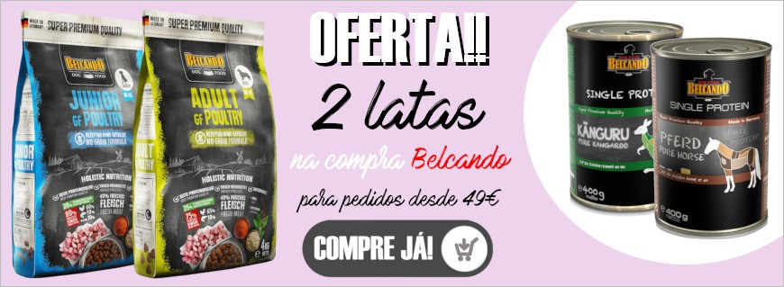 Para compras a partir de 49€ em Belcando, oferta 2 latas Belcando!
