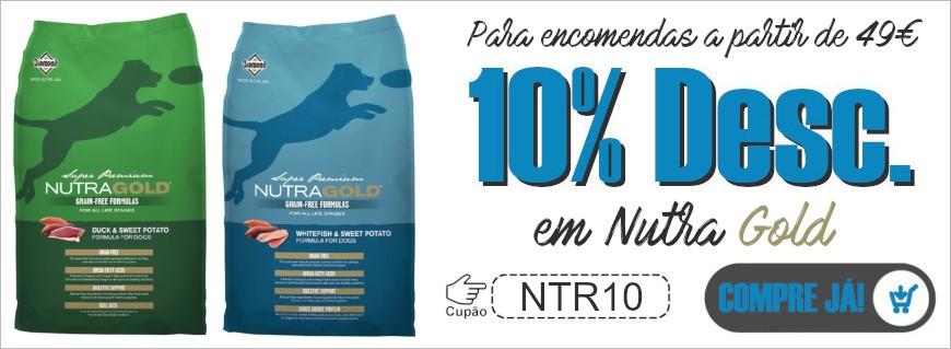 Para compras a partir de 49€, tem um desconto de 10% em Nutra Gold !