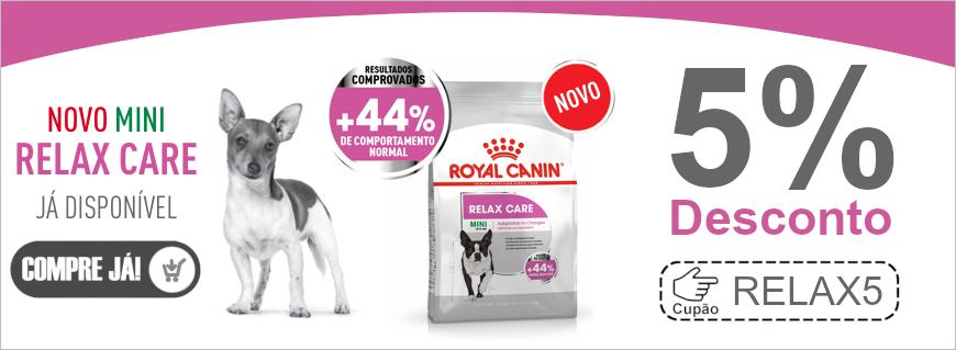 5% de desconto em Royal Canin Mini Relax Care