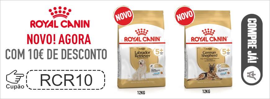 10€ de desconto em Royal Canin Labrador 5+ 12kg e Pastor Alemão 5+ 12kg