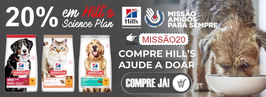 20% desconto em Hill's Science Plan cão e gato!
